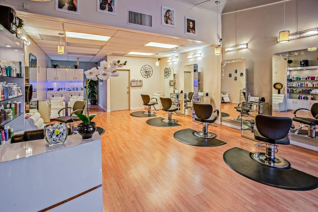 The interior of a salon